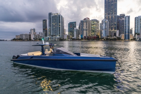 The new 48wallytender X  unveiled at the Miami Yacht Show