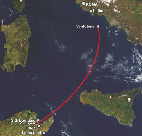 New challenge to the Wally Speed Record Ventotene-Cartagine