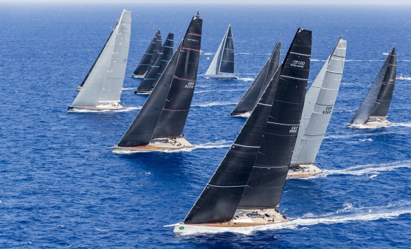Wally Class start   Maxi Yacht Rolex Cup 2017 ph Rolex Carlo Borlenghi